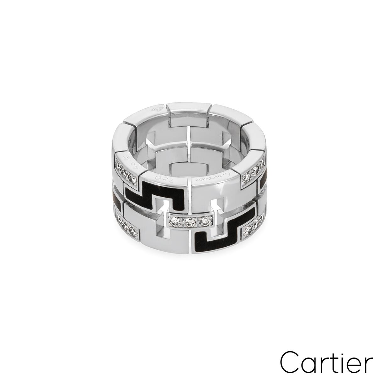 Cartier White Gold Le Baiser Du Dragon Ring